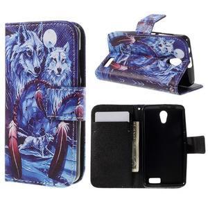 Styles peňaženkové puzdro pre mobil Lenovo A319 - vlci - 1