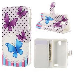 Styles peňaženkové puzdro pre mobil Lenovo A319 - motýľe - 1