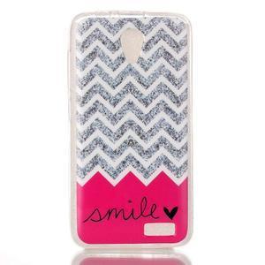 Softy gelový obal na mobil Lenovo A319 - smile - 1