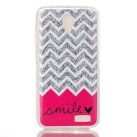 Softy gelový obal na mobil Lenovo A319 - smile - 1/3