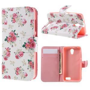 Styles peňaženkové puzdro pre mobil Lenovo A319 - kvetiny - 1