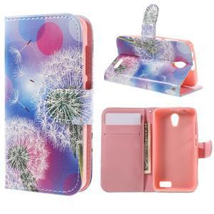 Styles peňaženkové puzdro pre mobil Lenovo A319 - púpava - 1