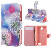 Styles peňaženkové puzdro pre mobil Lenovo A319 - púpava - 1/7