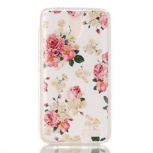 Softy gelový obal na mobil Lenovo A319 - květiny - 1