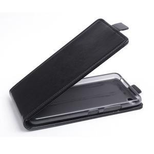 Flipové koženkové puzdro pre Lenovo S60 - čierné - 1