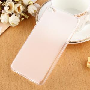 Matný gelový obal na mobil Lenovo S60 - bílý