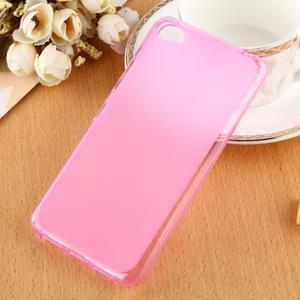 Matný gélový obal pre mobil Lenovo S60 - ružový - 1