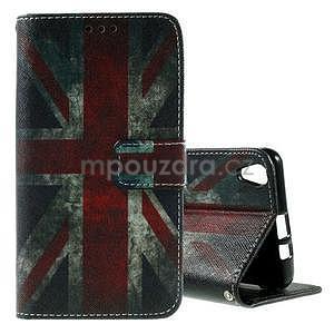 PU kožené peňaženkové puzdro pre Lenovo S850 - UK vlajka - 1