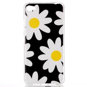Glossy gélový obal pre mobil Lenovo S90 - kvety - 1