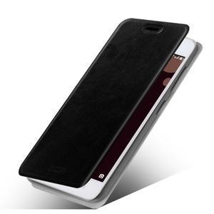 Moof PU kožené puzdro pre mobil Lenovo S90 - čierné - 1