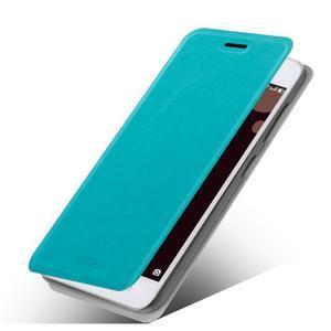 Moof PU kožené puzdro pre mobil Lenovo S90 - modré - 1