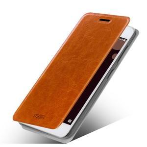 Moof PU kožené pouzdro na mobil Lenovo S90 - hnědé - 1