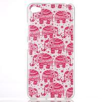 Glossy gélový obal pre mobil Lenovo S90 - červení slony - 1/3