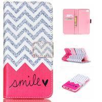 Style peňaženkové puzdro pre mobil Lenovo S90 - smile - 1/7