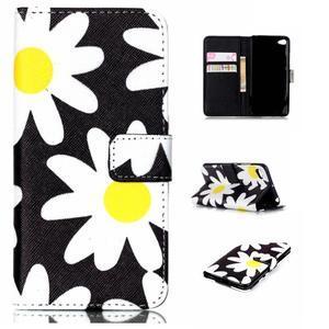 Style peňaženkové puzdro pre mobil Lenovo S90 - sedmikrásky - 1