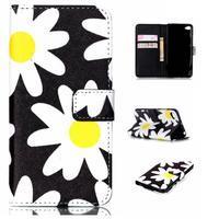 Style peňaženkové puzdro pre mobil Lenovo S90 - sedmikrásky - 1/7