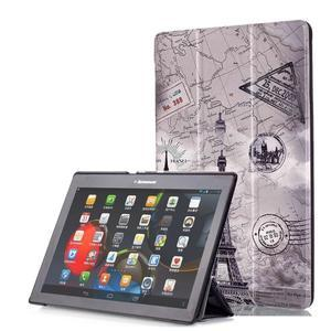 Polohovatelné puzdro pre tablet Lenovo Tab 2 A10-70 - Eiffelova veža - 1