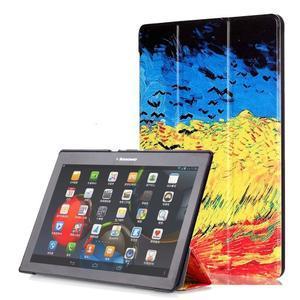Polohovatelné puzdro pre tablet Lenovo Tab 2 A10-70 - umelecká malba - 1