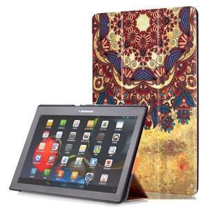 Polohovatelné puzdro pre tablet Lenovo Tab 2 A10-70 - vintage kvetiny - 1
