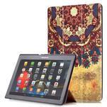 Polohovatelné puzdro pre tablet Lenovo Tab 2 A10-70 - vintage kvetiny - 1/6