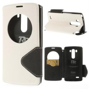 Diary puzdro s okienkom na mobil LG G3 - biele - 1