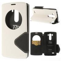 Diary puzdro s okienkom na mobil LG G3 - biele - 1/7