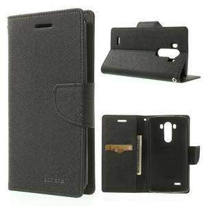Goos peněženkové pouzdro na LG G3 - černé - 1