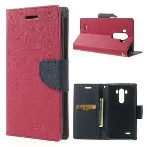 Goos peněženkové pouzdro na LG G3 - rose - 1
