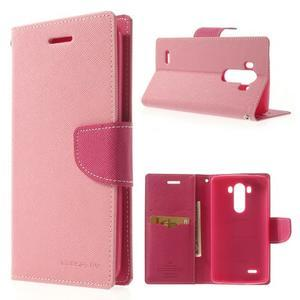 Goos peněženkové pouzdro na LG G3 - růžové - 1
