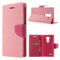 Goos peňaženkové puzdro pre LG G3 - ružové - 1/7