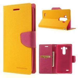 Goos peňaženkové puzdro pre LG G3 - žlté - 1
