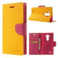 Goos peňaženkové puzdro pre LG G3 - žlté - 1/7