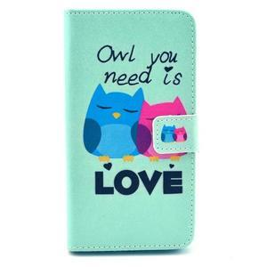 Obrázkové puzdro pre mobil LG G3 - soví láska - 1