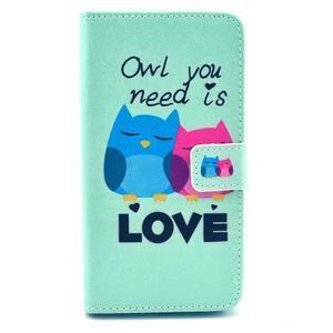 Obrázkové pouzdro na mobil LG G3 - soví láska - 1
