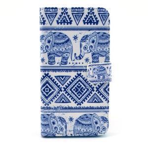 Obrázkové puzdro pre mobil LG G3 - modří sloni - 1