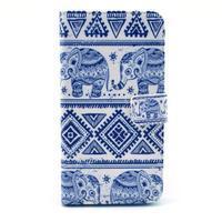 Obrázkové puzdro pre mobil LG G3 - modří sloni - 1/6