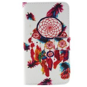 Obrázkové koženkové puzdro pre mobil LG G3 - lapač snov - 1