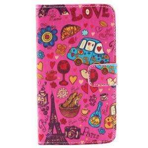 Obrázkové koženkové pouzdro na mobil LG G3 - symboly Paříže - 1