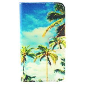 Obrázkové koženkové puzdro pre mobil LG G3 - palmy - 1
