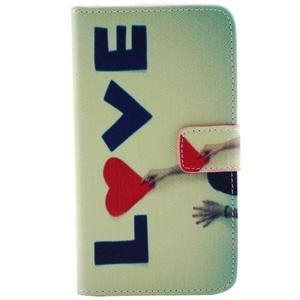 Obrázkové koženkové puzdro pre mobil LG G3 - love - 1