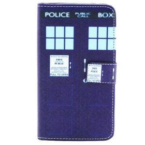 Obrázkové koženkové puzdro pre mobil LG G3 - policie - 1