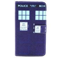 Obrázkové koženkové pouzdro na mobil LG G3 - policie - 1/4