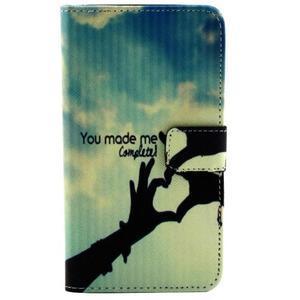 Obrázkové koženkové pouzdro na mobil LG G3 - láska - 1