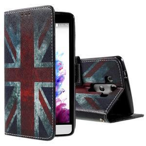 Motive koženkové pouzdro na LG G3 - UK vlajka - 1