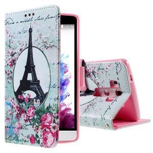Motive koženkové pouzdro na LG G3 - Eiffelova věž - 1