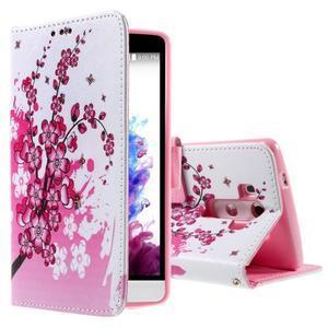 Motive koženkové pouzdro na LG G3 - kvetoucí větvička - 1