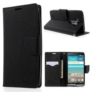 Cross PU kožené puzdro pre LG G3 - čierne - 1