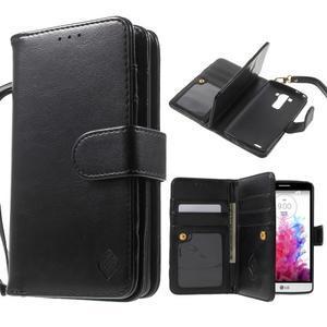 Patrové peněženkové pouzdro na mobil LG G3 - černé - 1
