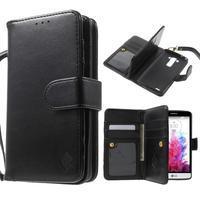 Patrové peněženkové pouzdro na mobil LG G3 - černé - 1/7