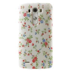 Gelový kryt na mobil LG G3 - kytičky - 1